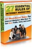 Thumbnail 27 Essential Rules Of Internet Marketing (MRR)