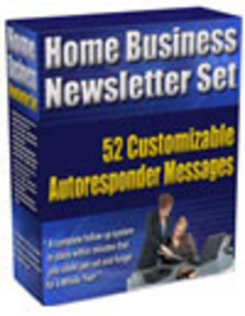 Product picture 52 Home Business Newsletter